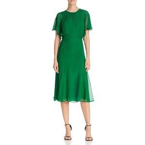Donna Karan New York Fit and Flare Silk Dress